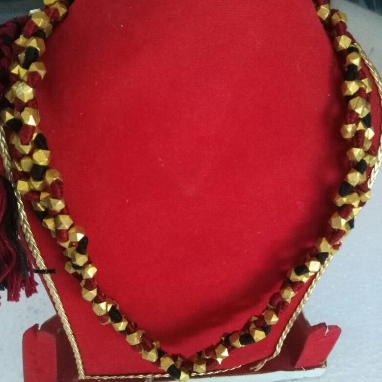 Dhokra handmade brass basic Leaf tribal Necklace by culturelink