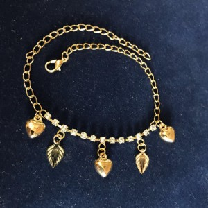 Trendy anklets with rhinestone