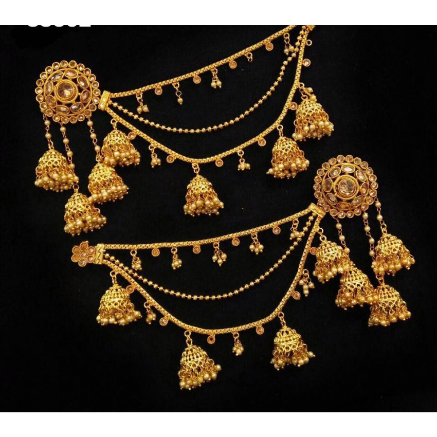 Culturelink Creations Bahubali Devsena Earrings