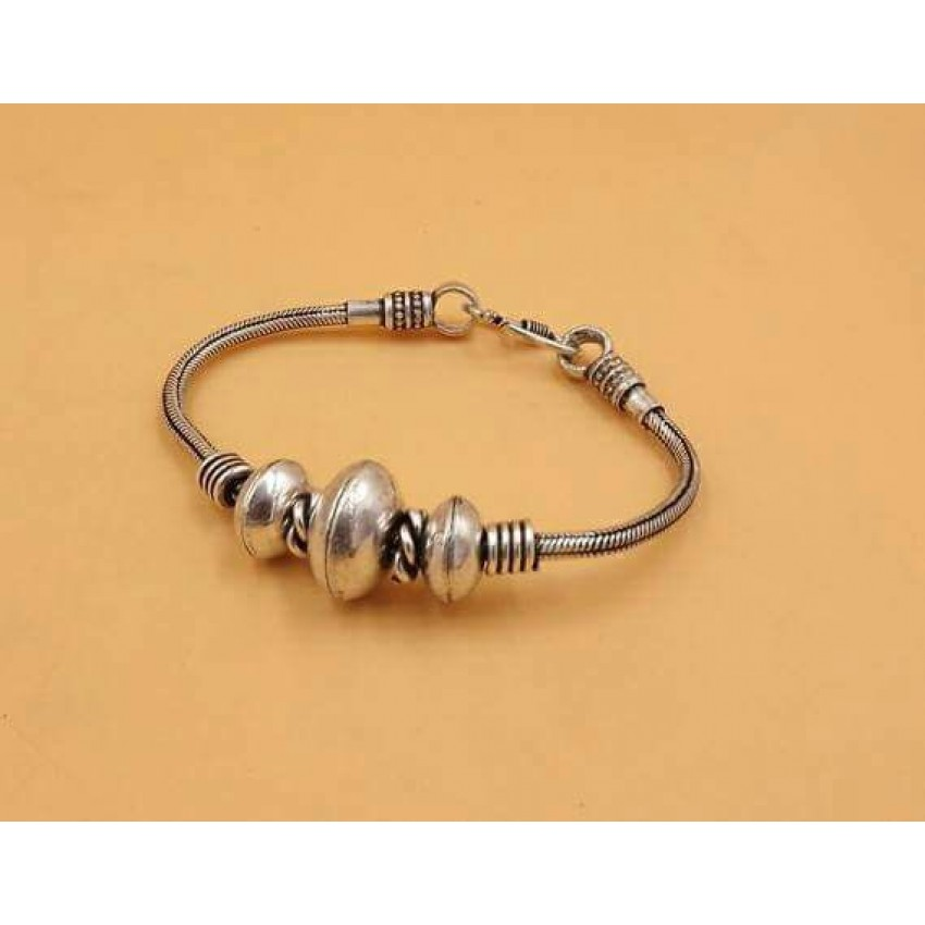 GERMAN SILVER  BEAD BRACELET
