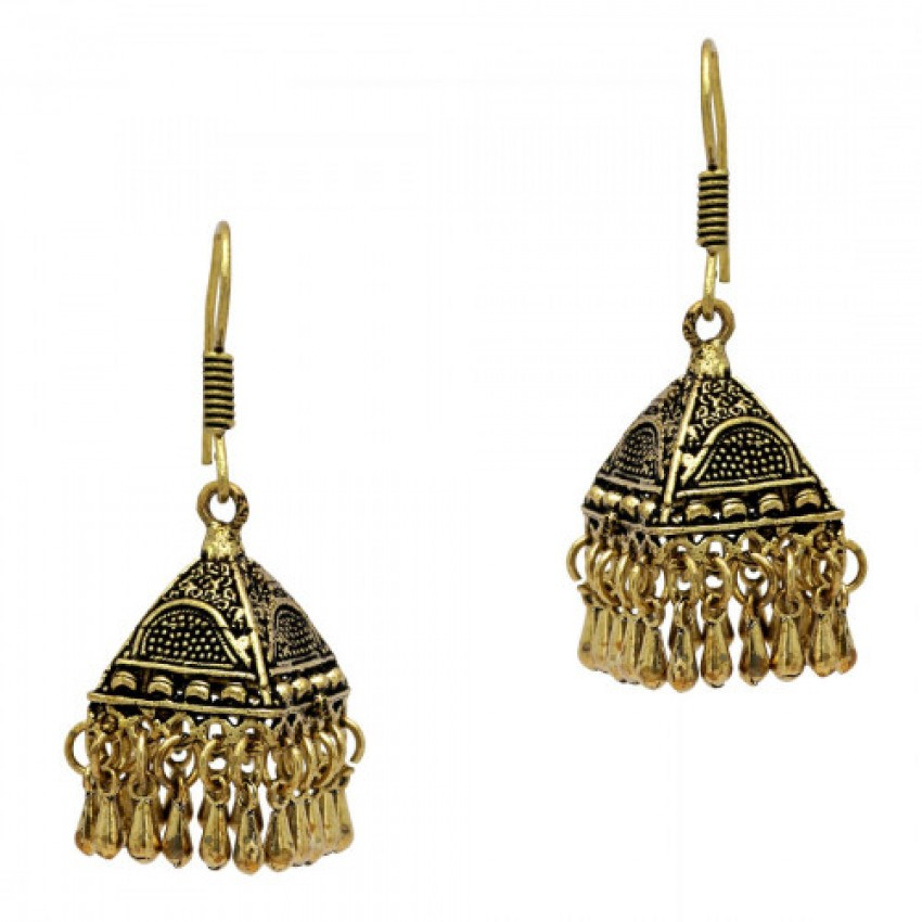 Culturelink Oxidized Golden Dangle hook Earrings