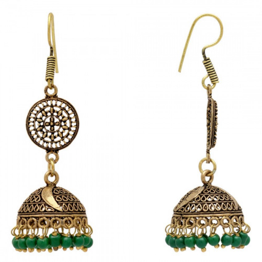 Oxidized Green Partywear Collection Oxidised Earrings