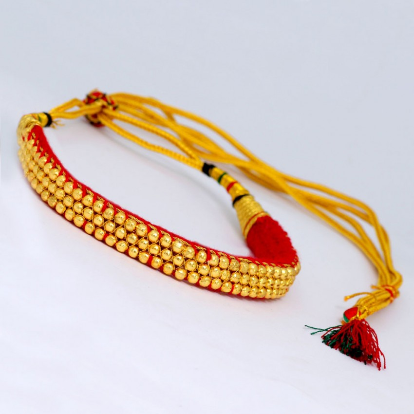 Red Designer Tribal Style Necklace For Women And Girls