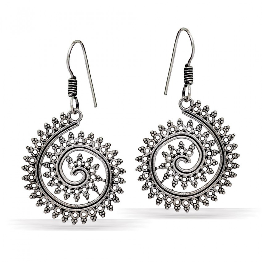 CRYSTAL LAKH RANI AND GOLDEN COLOR WORK  EARRING