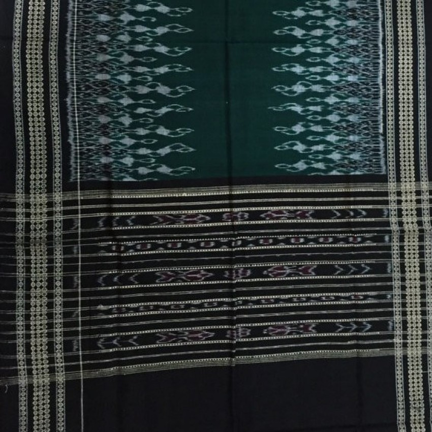 Handcraft ikat Indian Gypsy Bohemian Accessories Black and green Scarf