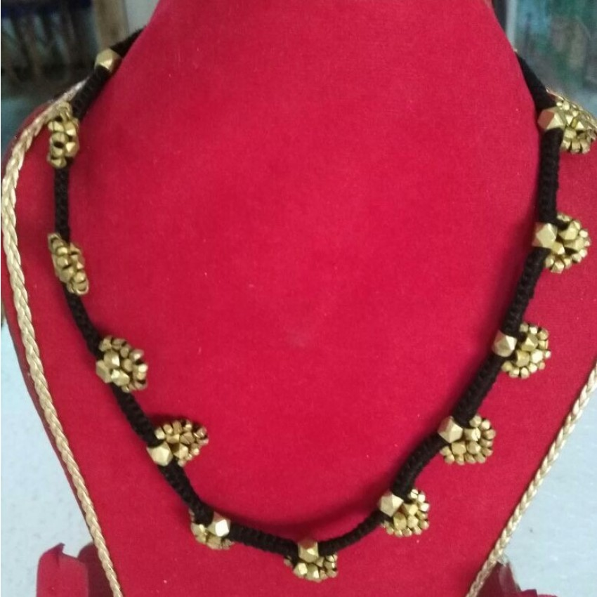 Dhokra handmade brass basic Floral tribal Necklace by culturelink