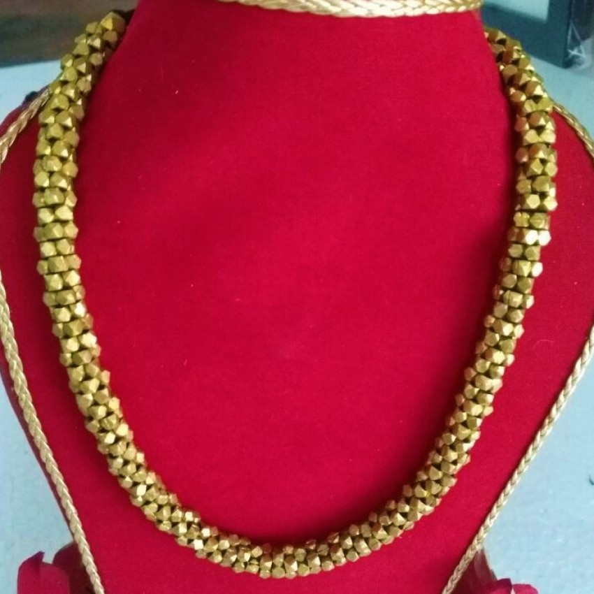 Dhokra handmade brass basic beaded tribal Necklace by culturelink